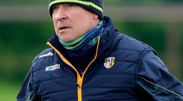 Looking up: Antrim boss Lenny Harbinson is eyeing a big leap into Division Three