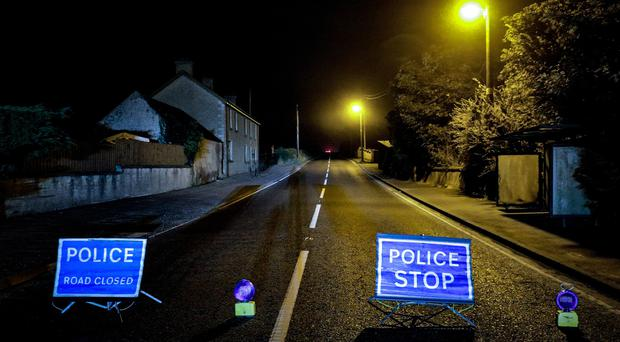 Police at the scene of a security alert on Priests Road in Castlewellan on September 19th 2019 (Photo by Kevin Scott for Belfast Telegraph)