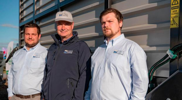 From left, Donite Plastics' staff Stephen Kissick, Michael Barton and Patrick Knight