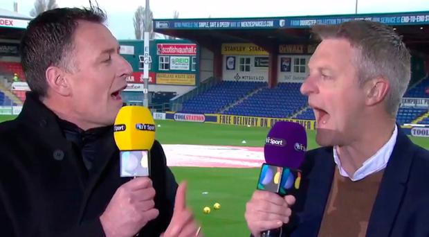 At odds: Chris Sutton and Stephen Craigan