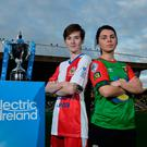 Cup glory: Linfield captain Kirsty McGuinness (left) and Glentoran skipper Jessica Foy ahead of tomorrow night's Big Two Irish Cup Final at Windsor Park