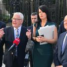 Francis McGuigan (second from left) has welcomed the ruling by the Court of Appeal in Belfast (Rebecca Black/PA)