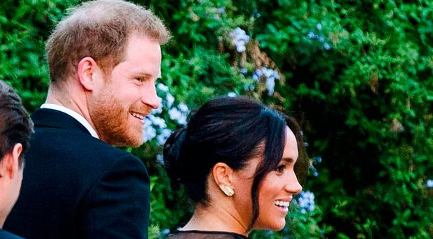 Meghan Markle wows in sheer Valentino evening gown at Misha Nonoo's wedding