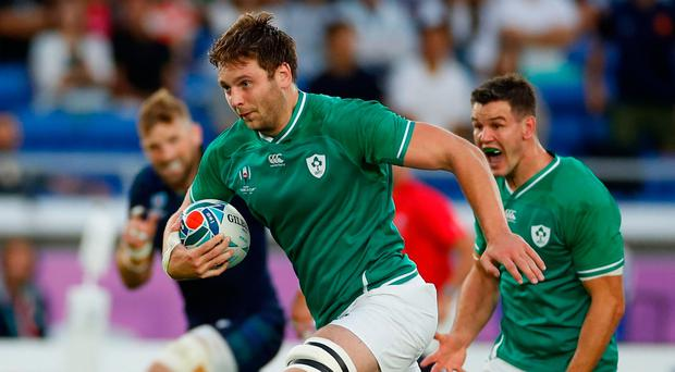 Iain Henderson delivered a top performance to help Ireland to a convincing victory over Scotland in Yokohama.