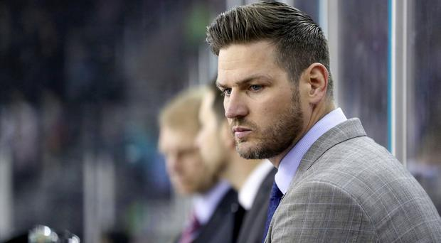 Belfast Giants head coach Adam Keefe during Saturday night's Challenge Cup game against the Dundee Stars (William Cherry/Presseye)