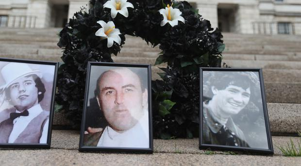 Archbishop Eamon Martin has appealed for information to help find the final three men who remain disappeared – from left to right, Columba McVeigh, Joe Lynskey and Robert Nairac (PA)