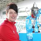 Glentoran legend Kelly Bailie has won the Women's Irish Cup eight times.