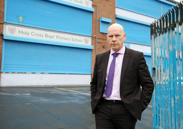 Principal Kevin McArevey pictured outside the school. Credit: Jonathan Porter/PressEye