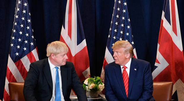 Prime Minister Boris Johnson (left) meets US President Donald Trump at the UN General Assembly