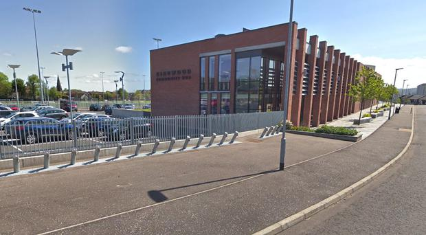 The incident happened at the 3G pitch at Girdwood Community hub in north Belfast. Credit: Google