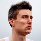 Starting line: Letterkenny's Mark English is ready to go in the 800m