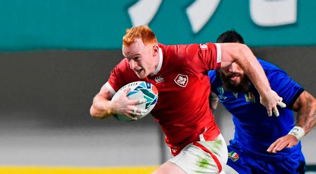 Making moves: Peter Nelson in action at the World Cup