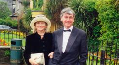 Nula Suchet and her former husband James in 1998