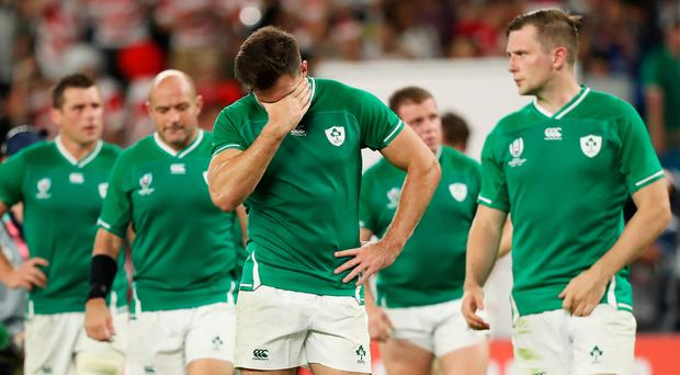 Jacob Stockdale reacts to Ireland's shocking loss to Japan.