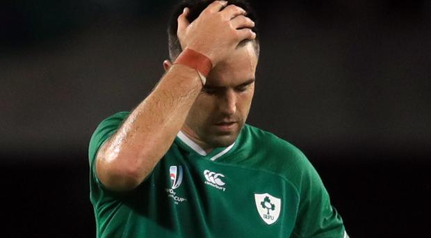 Conor Murray was visibly disappointed after Ireland's 19-12 loss to Japan (Adam Davy/PA)