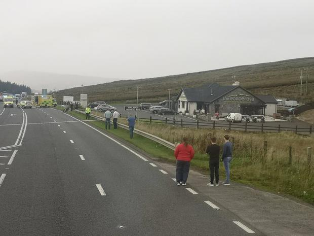 Bystanders at the Glenshane Pass