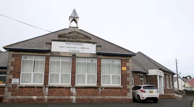 Portstewart Primary School in County Londonderry was closed today to facilitate a deep clean. Pic Steven McAuley/McAuley Multimedia