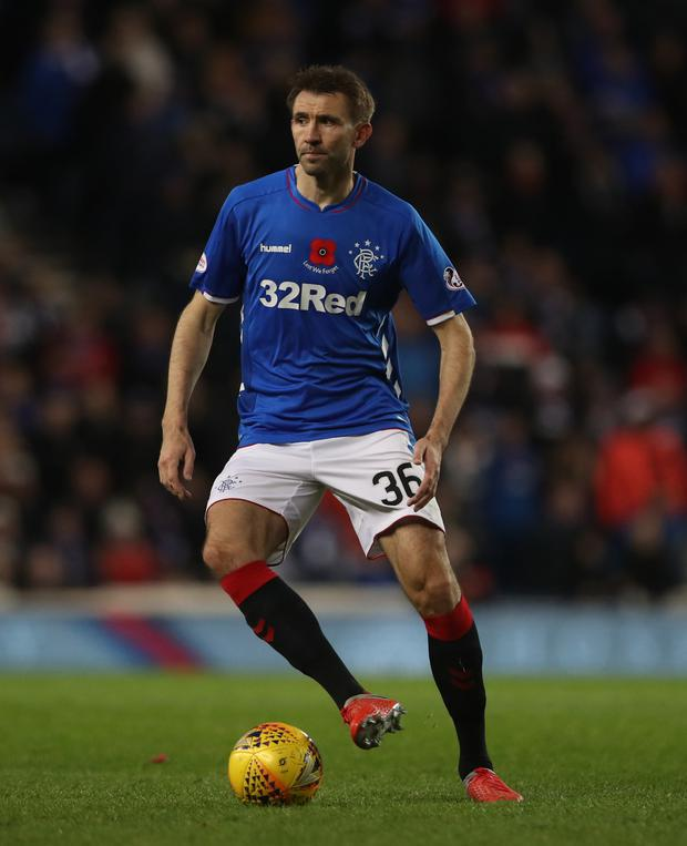 Dream fulfilled: Gareth McAuley in action for Rangers
