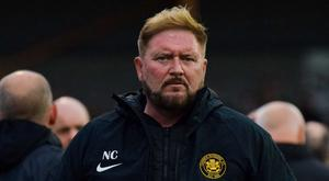 Carrick Rangers manager Niall Currie