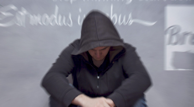 A total of 257 families used Depaul services in Northern Ireland (up 19%), with the report adding drug addiction is getting worse. File image posed