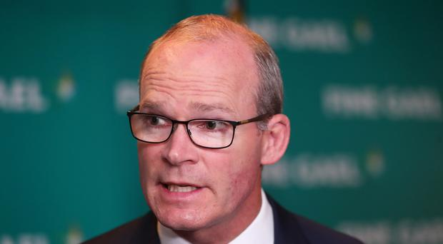 Tanaiste Simon Coveney during the Fine Gael parliamentary meeting at the Garryvoe Hotel in Cork.