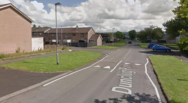 The armed robbery happened in the Dunclug Park area of Ballymena. Credit: Google
