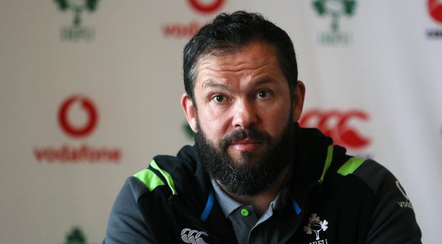 Andy Farrell, pictured, has challenged Ireland to channel the spirit of England's redemptive 2007 World Cup (Brian Lawless/PA)