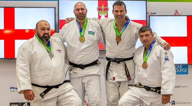 Some of Northern Ireland's medal winners from the recent Commonwealth Judo Championships