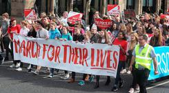 The March For Their Lives rally in Belfast organised by Precious Life