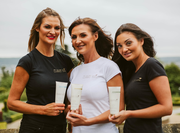 Sisters Leah White, Lynsey Bennett and Sarah White helped to develop Lusso Tan