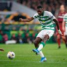 Celtic's Odsonne Edouard goes close during the UEFA Europa League Group E match at Celtic Park, Glasgow. Steve Welsh/PA Wire