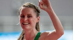 Just great: Ciara Mageean celebrates qualifying for the 1,500m final