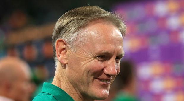 Joe Schmidt, pictured, has not eased up on Ireland despite cutting a relaxed figure at the World Cup (Adam Davy/PA)