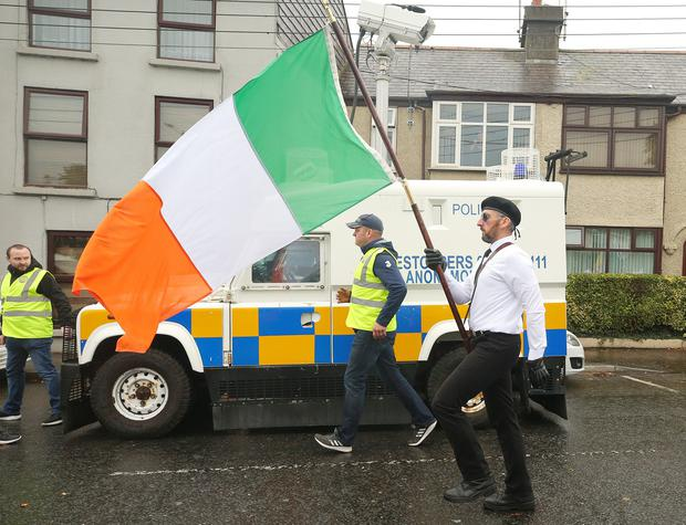 A republican colour party leads the parade. Picture by Jonathan Porter/PressEye