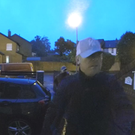 Attack: Doorbell camera footage of two of the thugs who invaded the home on Malfin Drive in Taughmonagh