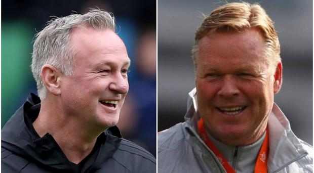 Northern Ireland manager Michael O'Neill will need to outwit Netherlands boss Ronald Koeman if his side are to get a result in Rotterdam.