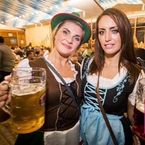 05 Oct 2019 People out for Oktoberfest at Custom House Square in Belfast. Liam McBurney/RAZORPIX