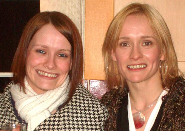 Family picture of murder victim Charlotte Murray, (left), with her twin sister Denise, (right).