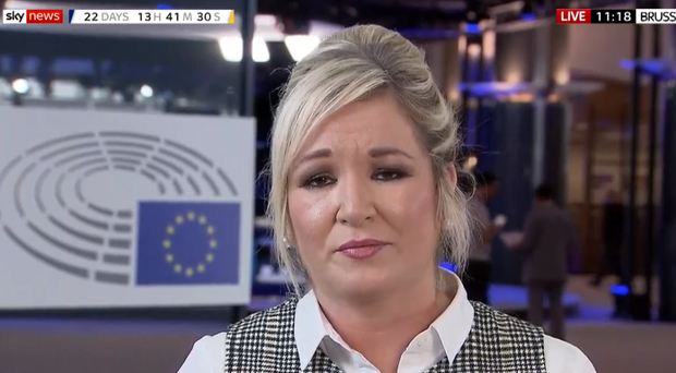Michelle O'Neill appeared on 'All Out Politics' on Sky News. Credit: Sky News