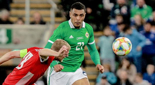 Northern Ireland's Josh Magennis is expected to lead the line in Rotterdam.