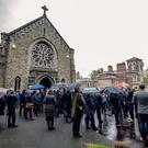The funeral of poet Ciaran Carson takes place on October 10th 2019 (Photo by Kevin Scott for Belfast Telegraph)