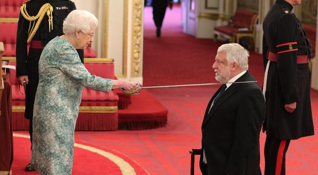 Sir Simon Russell Beale is made a Knight Bachelor of the British Empire (Yui Mok/PA)