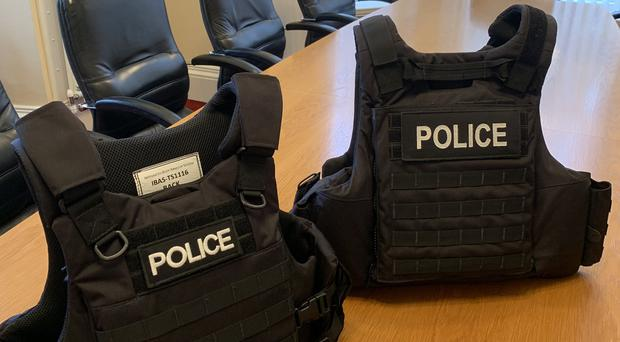 The new PSNI body armour. Credit: PSNI
