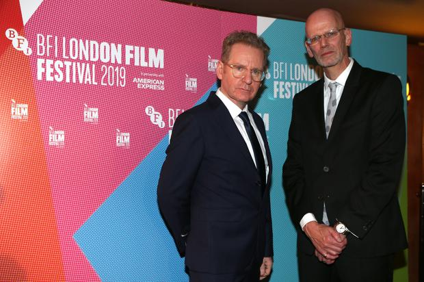 Dermot Lavery and Michael Hewitt of Doubleband, the filmmakers behind 'Lost Lives', pictured at the premiere at the London Film Festival. Credit: Stephen Davison