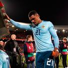 Northern Ireland's Josh Magennis gave his side a 75th minute lead in Rotterdam before the hosts staged a late comeback.