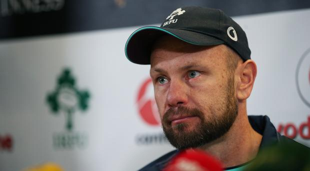 Ireland scrum coach Greg Feek, pictured, has admitted concerns with the pitch in Fukuoka (Brian Lawless/PA)