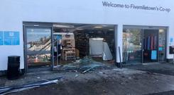 The damage to the Co-op on Main Street, Fivemiletown.