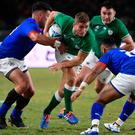 Ireland's full back Jordan Larmour was the star man against Samoa.