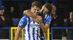 Coleraine's Ben Doherty netted twice as the Bannsiders eased to victory at the Showgrounds.