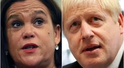 Mary Lou McDonald spoke by phone with Boris Johnson (PA)